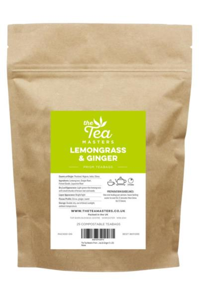 The Tea Masters Prism Teabags - Lemongrass & Ginger (1x25)