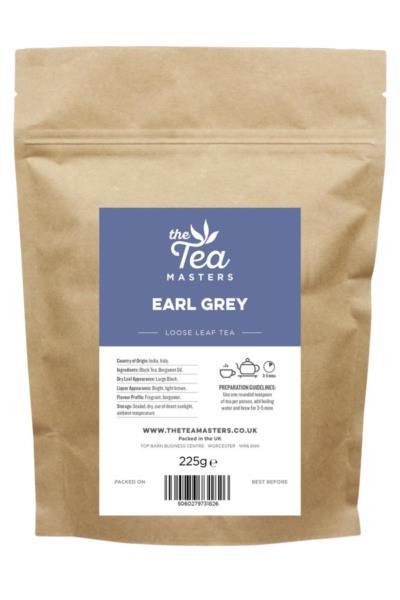 The Tea Masters Loose Leaf Tea - Earl Grey (1x225g)