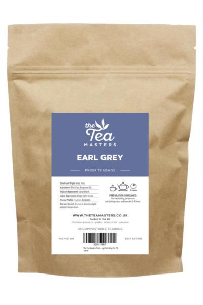 The Tea Masters Prism Teabags - Earl Grey (1x25)