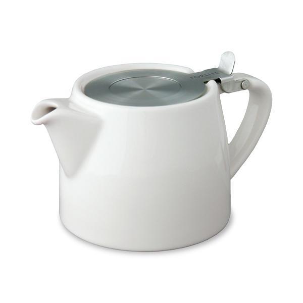 Stump Tea Pot - White
