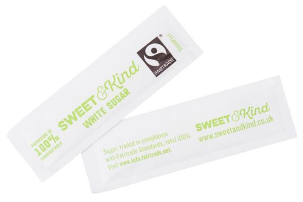 Sweet & Kind Sugar Sachets - White (1X1000)