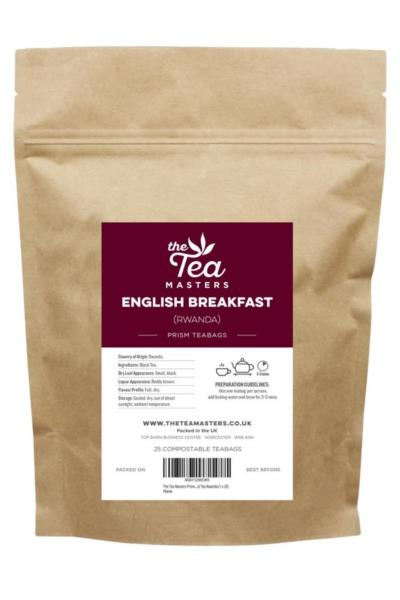 The Tea Masters Prism Teabags - Breakfast Tea - Rwanda (1x25)