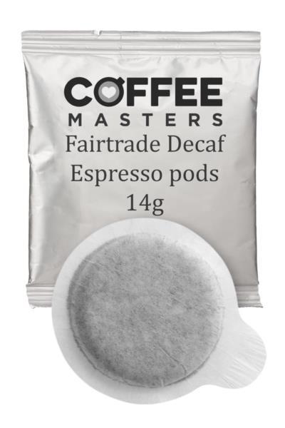 Decaf Espresso Pods (Fairtrade) (100x14g)