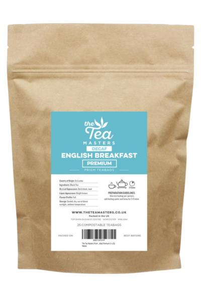 The Tea Masters Prism Teabags - Decaf English Breakfast - Premium (1x25)