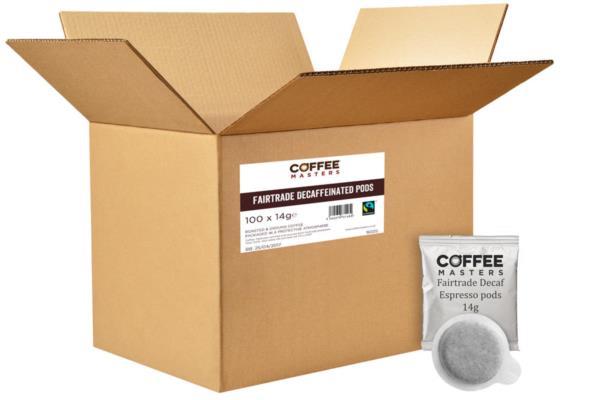 Coffee Masters - Decaf Espresso Pods (Fairtrade) (100x14g) photo 2