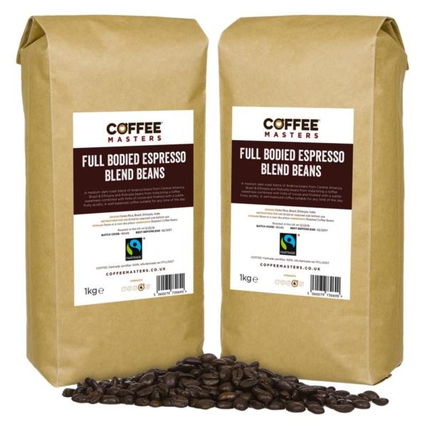 Coffee Masters - Full Bodied Blend Fairtrade Coffee Beans (6x1kg) photo 1