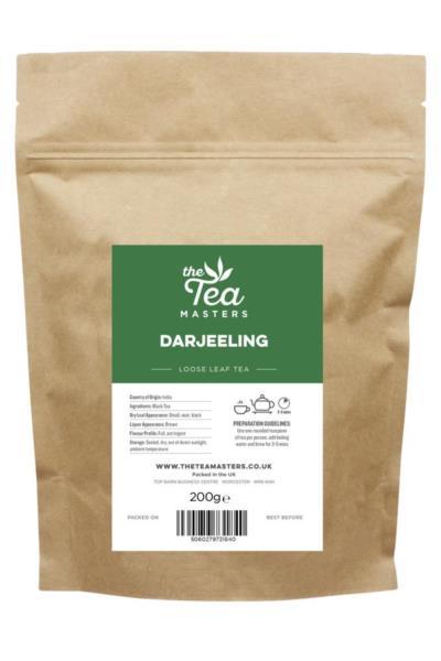 The Tea Masters Loose Leaf Tea - Darjeeling (1x200g)