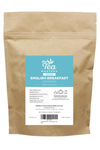 The Tea Masters Prism Teabags - Decaf English Breakfast - Fannings (1x25)