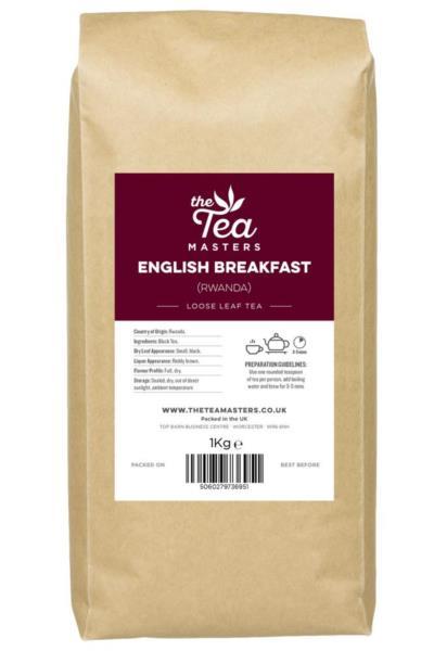 The Tea Masters Loose Leaf Tea - Breakfast Tea - Rwanda (1x1kg)