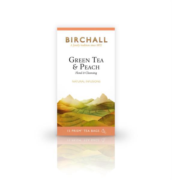 Birchall Prism Teabags - Green Tea & Peach (1x15) photo 1