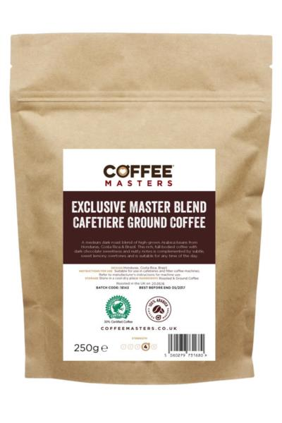 Exclusive Master Blend - Ground Cafetiere Coffee 250g