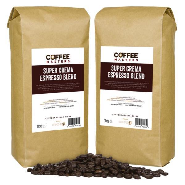 Coffee Masters - Super Crema Blend Coffee Beans (6x1kg)