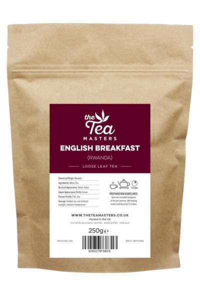 The Tea Masters Loose Leaf Tea - Breakfast Tea - Rwanda (1x250g)
