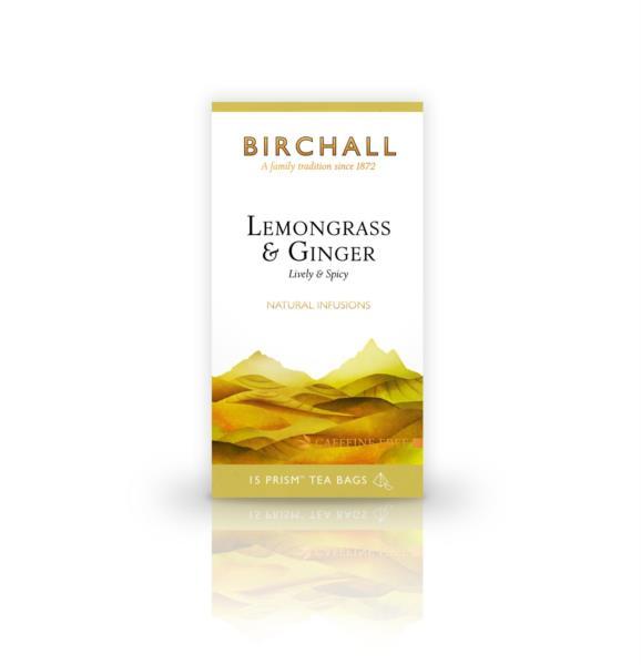 Birchall Prism Teabags - Lemongrass & Ginger (1x15)