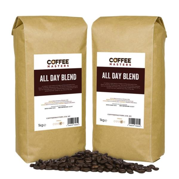 Coffee Masters - All Day Blend Coffee Beans (6x1kg)