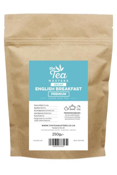 The Tea Masters Loose Leaf Tea - Decaf English Breakfast - Premium (1x250g)