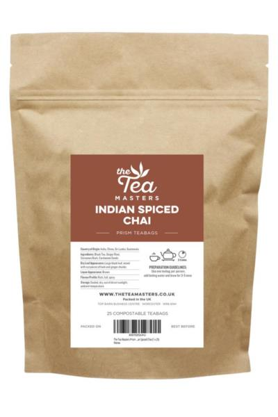 The Tea Masters Prism Teabags - Indian Spiced Chai (1x25)