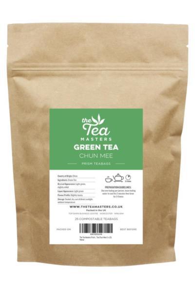 The Tea Masters Prism Teabags - Green Tea - Chun Mee (1x25)