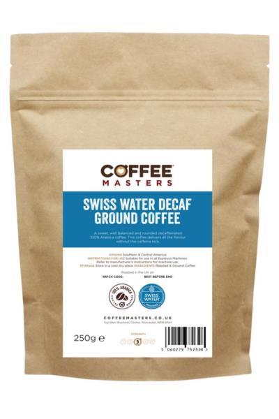 Swiss Water Decaf Ground Espresso Coffee (1x250g)