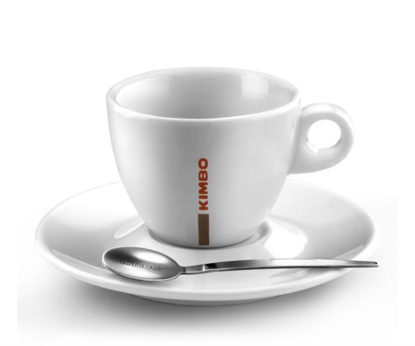Kimbo Classic Ceramic Cappuccino Cup 170ml/5.5oz & Saucer (1x6)