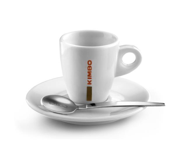 Kimbo Classic Ceramic Espresso Cup (70ml/2.5oz) & Saucer (1x6)