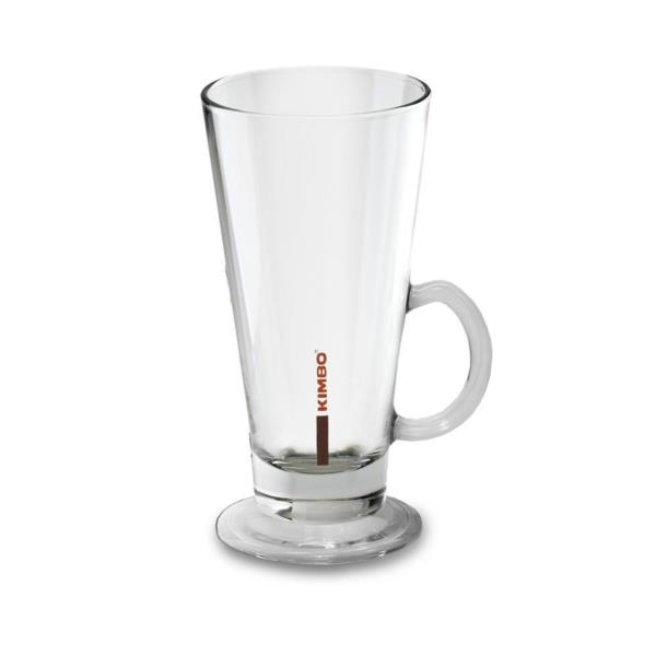 Kimbo Latte Glass 260ml/9oz with Handle  (1x6)