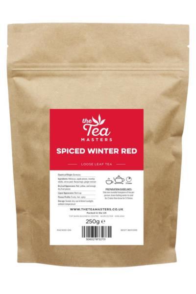 The Tea Masters Loose Leaf Tea - Spiced Winter Red Tea (1x250g)