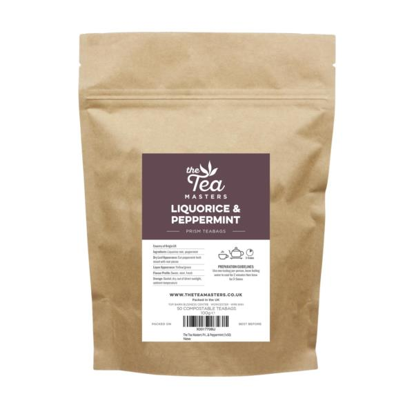 The Tea Masters Prism Teabags - Liquorice & Peppermint (1x50)