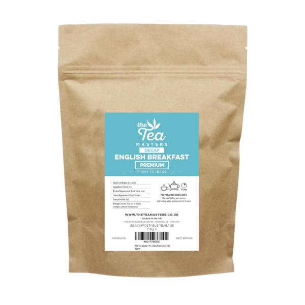 The Tea Masters Prism Teabags - Decaf English Breakfast - Premium (1x50)