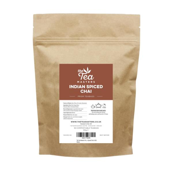 The Tea Masters Prism Teabags - Indian Spiced Chai (1x50) photo 1