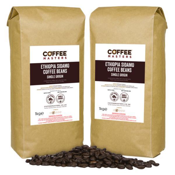 Coffee Masters - Ethiopia Sidamo Coffee Beans (4x1kg)