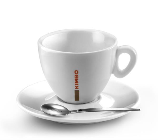 Kimbo Large Cup 290ml/10oz & Saucer - Ceramic (1x6)