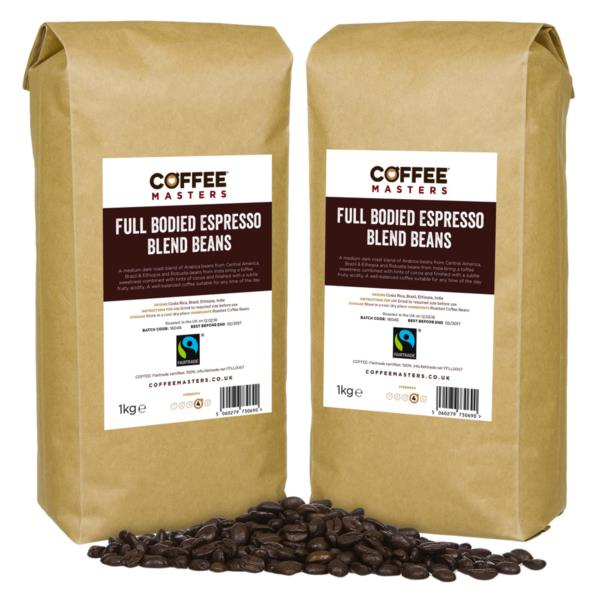 Coffee Beans - Full Bodied Blend - Fairtrade (2x1kg)