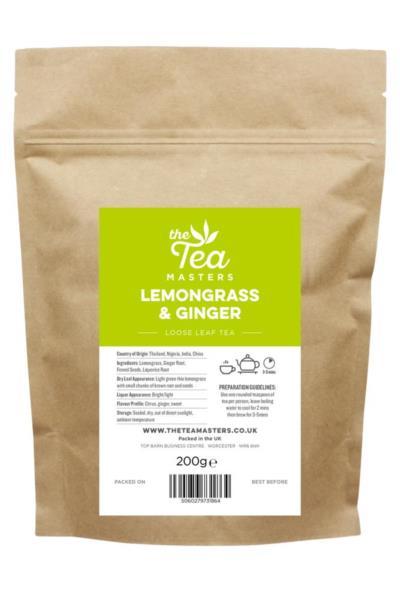 The Tea Masters Loose Leaf Tea - Lemongrass & Ginger (1x200g)
