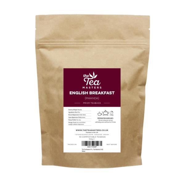 The Tea Masters Prism Teabags - Breakfast Tea - Rwanda (1x50)