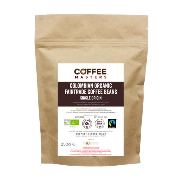 Retail Beans - Colombian Organic Fairtrade Blend (1x250g)