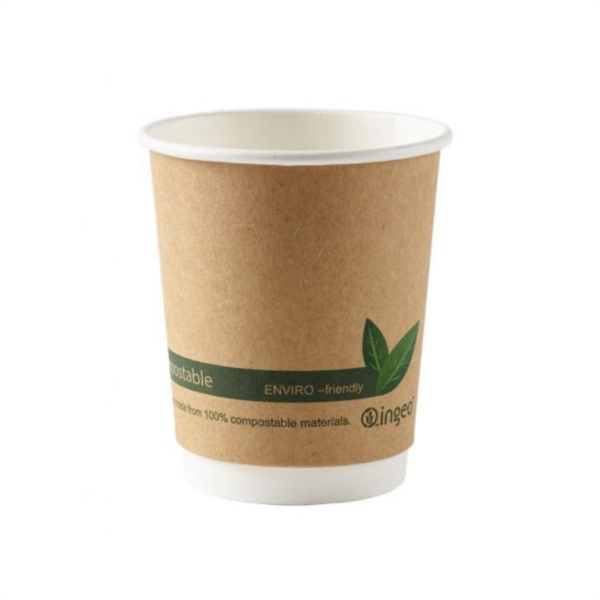 Compostable Double Wall Brown Kraft Cup 12oz (500)