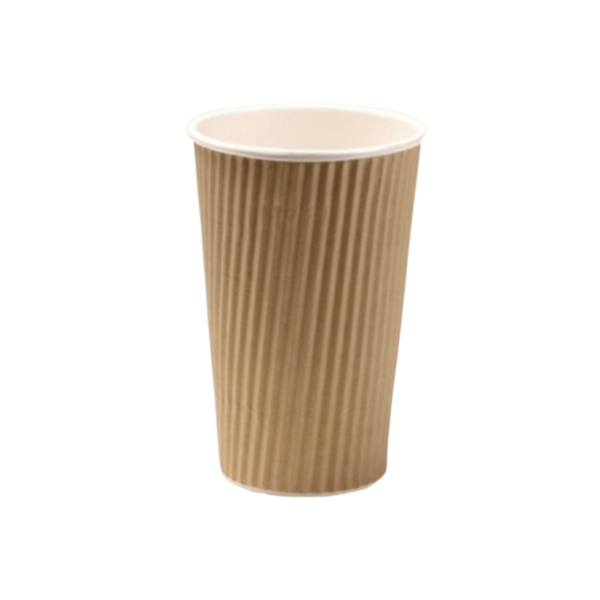 Disposable Kraft Ripple Cup 16oz (500)