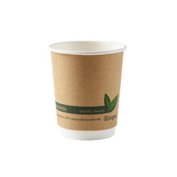 Compostable Double Wall Brown Kraft Cup 8oz (25)