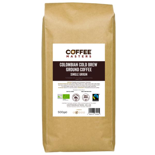 Coffee Masters - Colombian Cold Brew Ground Coffee (1x500g)