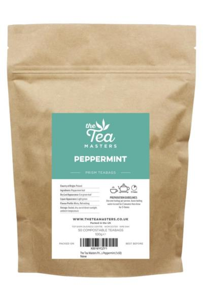 The Tea Masters Prism Teabags - Peppermint (1x50)