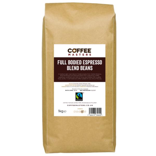 Coffee Beans - Full Bodied Blend - Fairtrade (1x1kg)