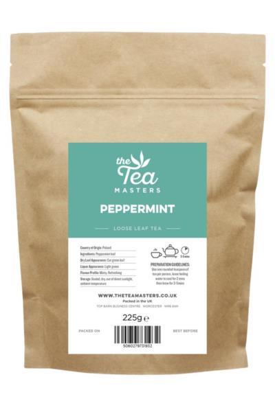 The Tea Masters Loose Leaf Tea - Peppermint (1x225g)