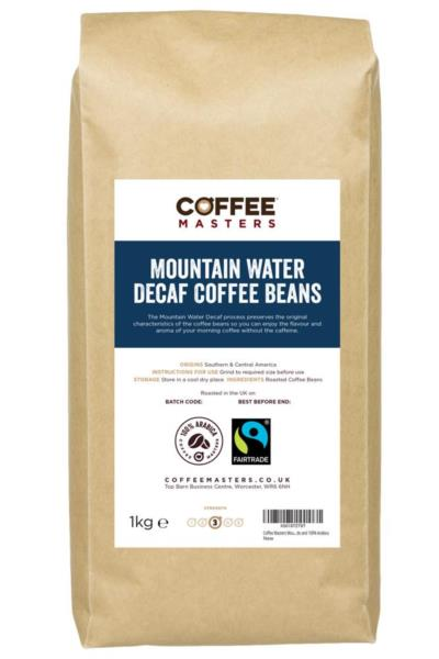 Coffee Masters - Mountain Water Decaf Coffee Beans (1x1kg)