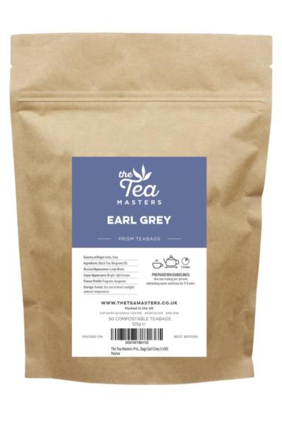 The Tea Masters Prism Teabags - Earl Grey (1x50)
