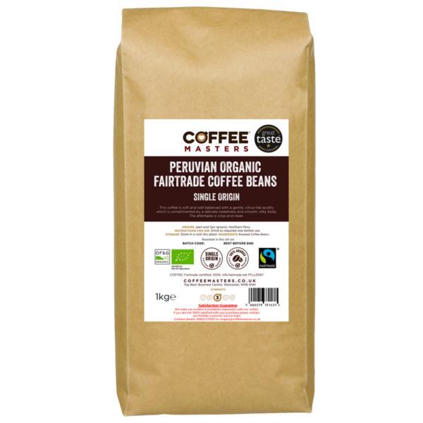 Coffee Masters - Peruvian Organic Fairtrade Coffee Beans (1x1kg)
