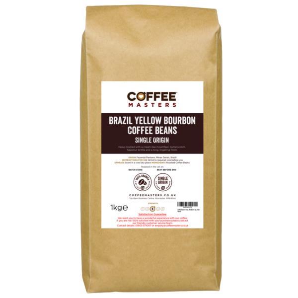 Coffee Masters - Brazil Yellow Bourbon Coffee Beans (1x1kg)