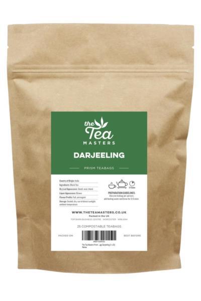 The Tea Masters Prism Teabags - Darjeeling (1x25)
