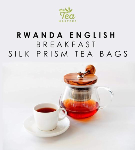 The Tea Masters Prism Teabags - Breakfast Tea - Rwanda (1x25) photo 5