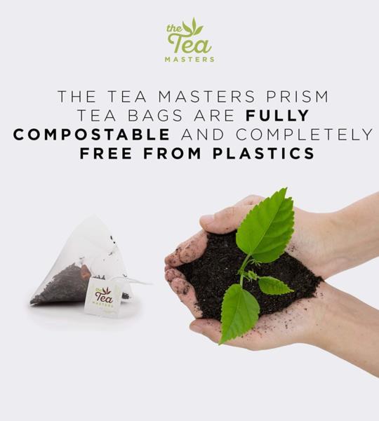 The Tea Masters Prism Teabags - Decaf English Breakfast - Premium (1x25) photo 4